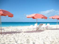 Quiet beach, plenty of chairs