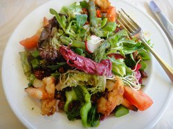 Yummy salad at the La Grotte
