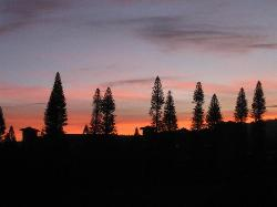 Sunset off our lanai - Kapalua Ridge Villas