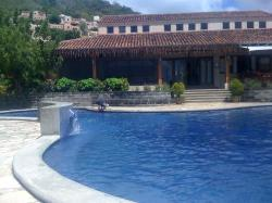 Looking back at the Villas from the pool...