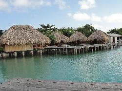 Cabanas on the dock (sunset view)