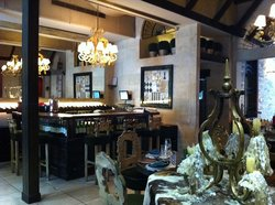 Lovely bar counter & piano area with entertainment from 9pm