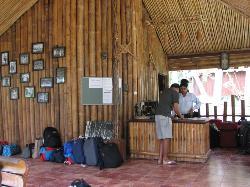 At entrance
