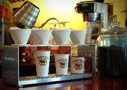 Hot fresh Kauai Coffee made to order.