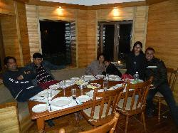 up hill resort dinning area