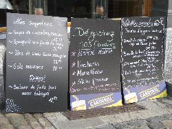 Blackboard Menus