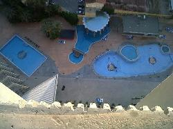 View of the 3 pools from the balcony