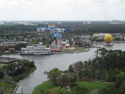 view from 24th floor of downtown disney