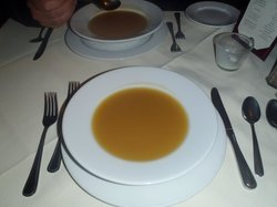 Melon-Champagne cold soup at the Inn