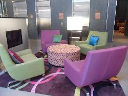 Chairs in the lobby