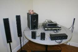 High technology equipment in seminar room