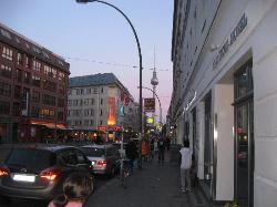View South from hotel on Rosenthaler Strasse