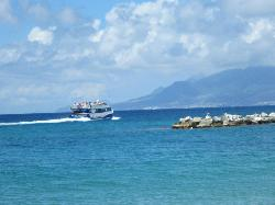 Ferry enroute to St Kitts