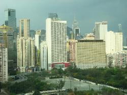 View of Causeway Bay from our room