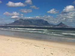 Table Mountain and Lions Head from Bloubergstrand