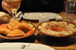 Hummus and Lamb Samosa