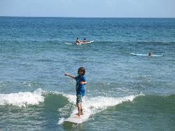 First Time Surfing--That's a Smile!