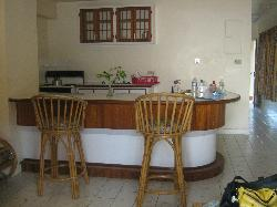 View of the kitchen area inside the suite