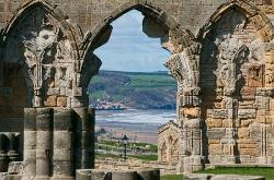 Sandsend from Whitby Abbey