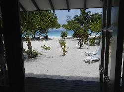 View onto the beach from our room
