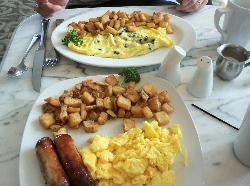 """The $7 """"Eggs Your Way"""" and the $9 """"Vegetable Omelette"""""""