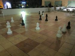 Large Chess set near spa and gym