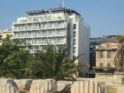 view of hotel from Temple of Zeus