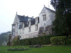 The front of the chateaux that faces the Loire