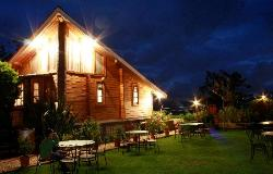 cottage by night