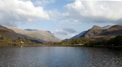 The lake, Llyn Padarn as viewed from about 1/4 mile away from B&B