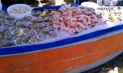 Out at the Seafood Fest, with the tasty raw bar!!