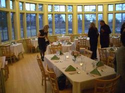 the dining area in what is usually the cafe