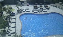 View from the room to the pool