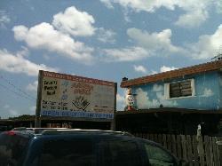 Excellent graphic signage for Alabama Jack, Card Sound Road, Key Largo, FL