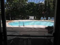 The pool right outside our room