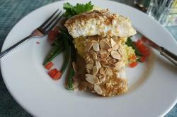 almond crusted Mahi