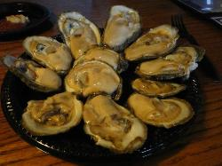 Raw local oysters