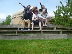 Outside the Yurt
