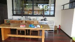The pantry and dining table