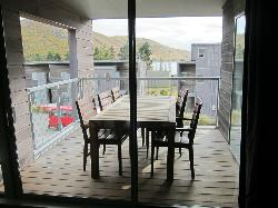 Dinning outdoors at the Balcony