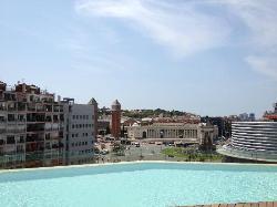 Vistas desde la piscina de B-hotel