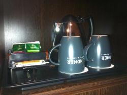 lekkere koffie en thee op de kamer