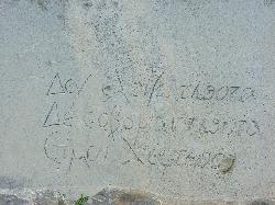 Der Grabspruch in seiner Handschrift