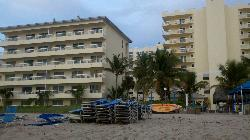 Looking at buildings from beach