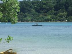 Morning fishing on east side of island