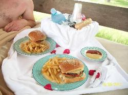 royal service lunch at the beach (on request)