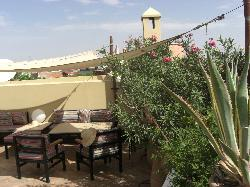 the roof terrace where we had breakfast