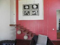 Stairs leading to master room