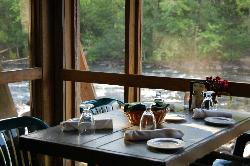Dining on The Schroon River