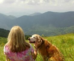 Me and Angel on the top of Bald Mountain